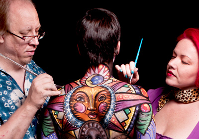 Scott Fray, Madelyn Greco, LivingBrush Bodypainting