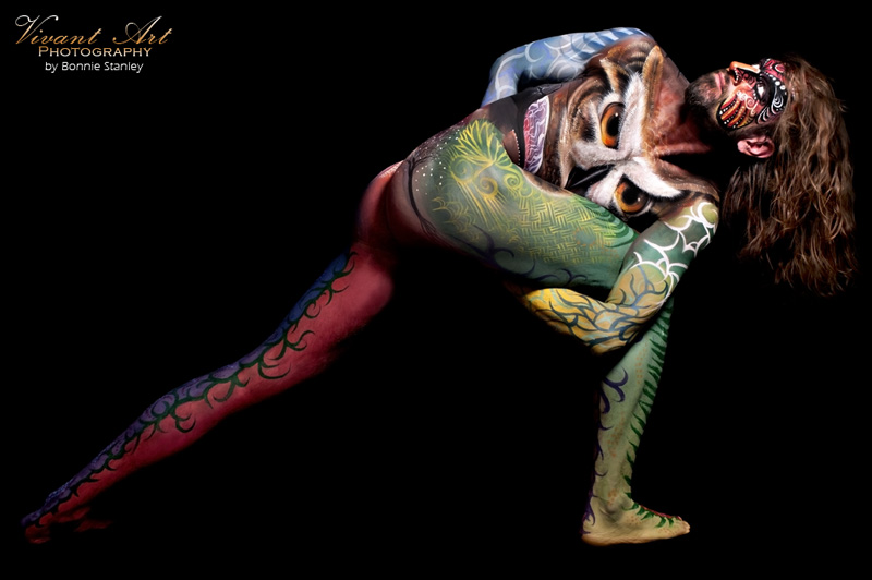 Bodypainting Photography: Bonnie Stanley :: Bodypainting: Scott Fray & Madelyn Greco of LivingBrush :: Model: Gavin Glass